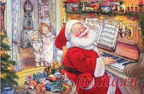 Зимне-рождественское настроение. С наступающим Рождеством. Притча Пауло Коэльо о том, чему стоит больше уделять внимания в жизни. Пожелания на Рождество, душевные подарки – работы художника-иллюстратора Lisi Martin, стихи, музыка.