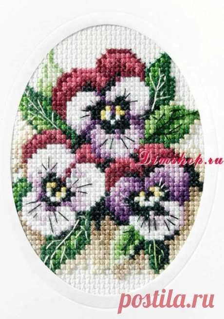 Набор для вышивания Orchidea 6161 Анютины глазки