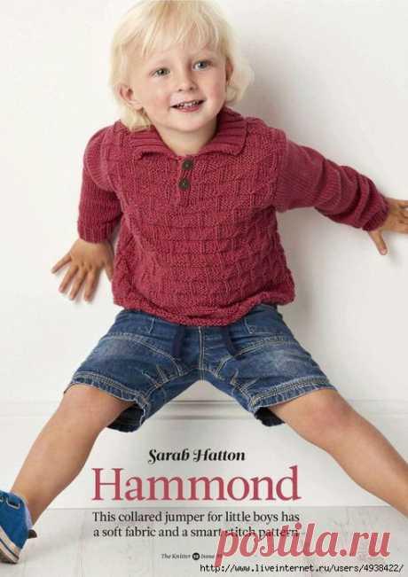 Пуловер «Hammond» для маленьких мальчиков.