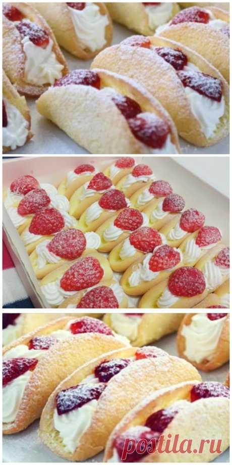 Бисквитные пирожные с клубникой — это моя коронная выпечка уже лет 10!
