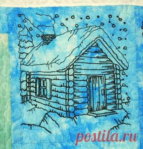 Advanced Embroidery Designs - One-Color Winter Scene Set