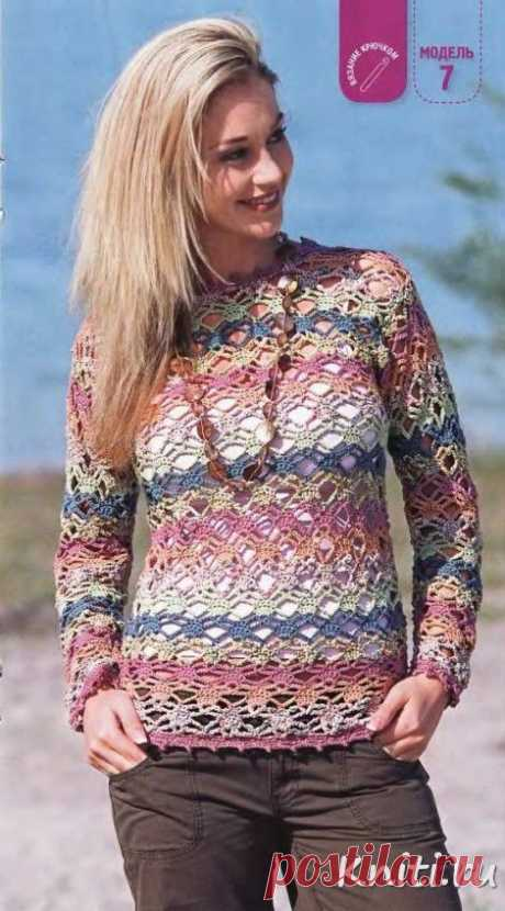 Летний пуловер 2013 – Мир вязания и рукоделия