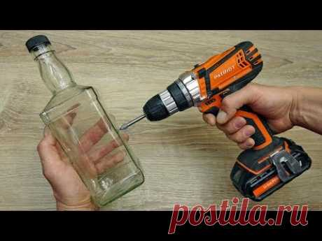 Как просверлить стеклянную бутылку, кафельную плитку или стекло