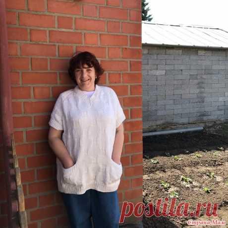Белый жилет (спицами) - Вязание - Страна Мам