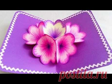 Beautiful cards the hands, 3D by March 8 — 4 master classes | razpetelka.ru