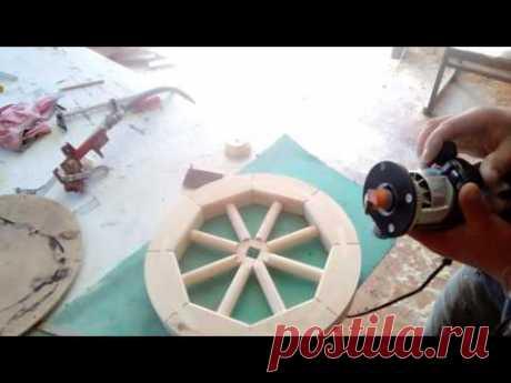Деревянное колесо!