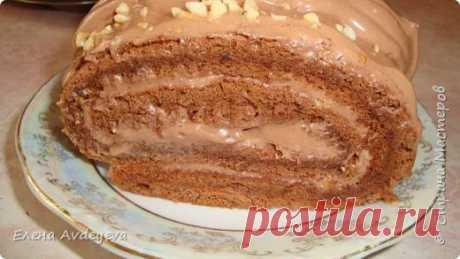 Вкуснейший Шоколадный Рулет с Орехами | Страна Мастеров