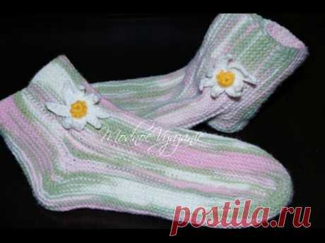Легкий способ вязания носков двумя спицами