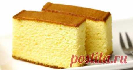Бисквит на кипятке неизменно удается пышным, пористым и воздушным.