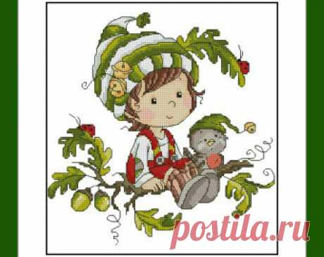 Autumn elf. Digital Item Instant PDF Digital from 100patterns