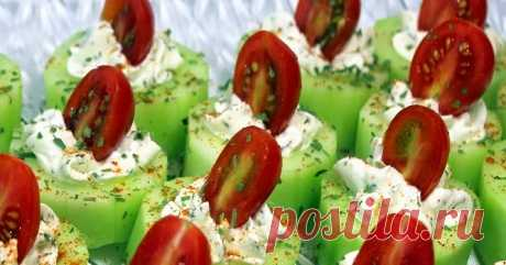 Cucumber Bites with Herb Cream Cheese and Cherry Tomatoes - 52 Church PotLuck Appetizers      These are fantastic for a number of reasons... Beautifully colorful, a real standout of a dish. Easy, Really Really DIY Easy to make a...
