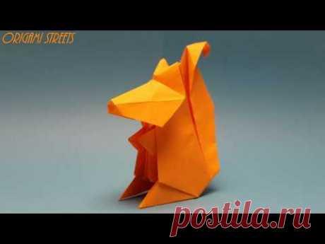 Как сделать оригами белку из бумаги. Оригами белка из бумаги