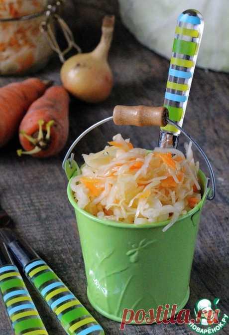 Маринованная капуста с горчицей - кулинарный рецепт
