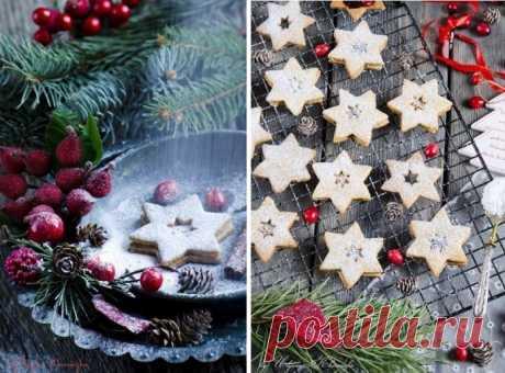 Популярное линцерское печенье к рождеству. Привет из Австрии!