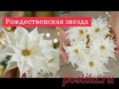 НОВОГОДНИЙ декор / ПУАНСЕТТИЯ своими руками / DIY TSVORIC