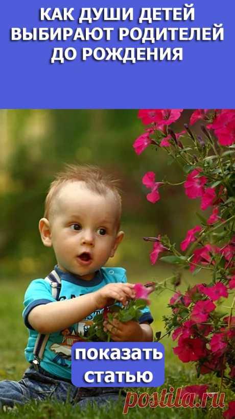 СМОТРИТЕ: Как души детей выбирают родителей до рождения