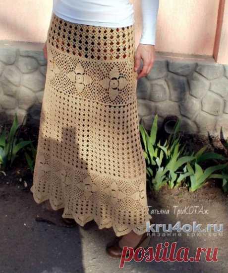 Женская юбка крючком. Работа Татьяны Колесниченко Тарчевской