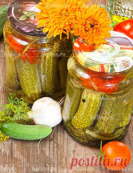 Огурцы маринованные с календулой – рецепт приготовления с фото от Kulina.Ru