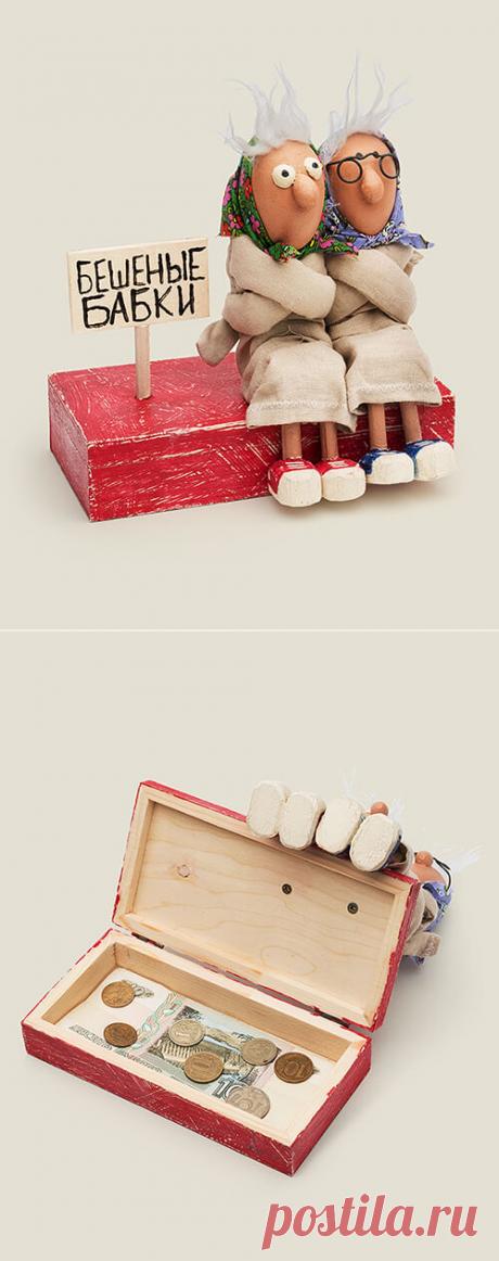Шкатулка купюрница Бешеные бабки (купить) 2900Р + Подарок