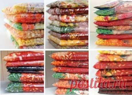 20 продуктов, которые можно заморозить.