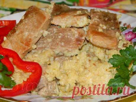 Рецепт - Кулеш из пшена со свининой