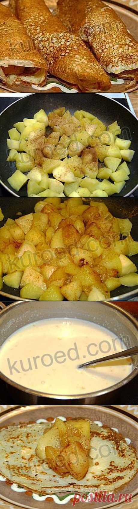 РЕЦЕПТЫ   Блинчики с яблоками и орехами