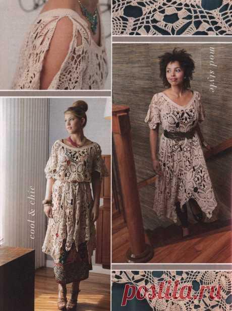 Обалденное платье крючком на все размеры (описание на англ.яз.) | Дневник Иримед