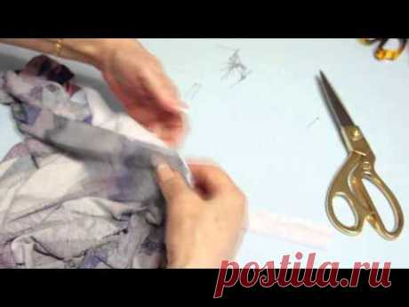 Обработка трикотажной горловины обтачкой от Светланы Поярковой Часть 1
