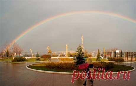 Удивительная радуга, чудо природы на фото