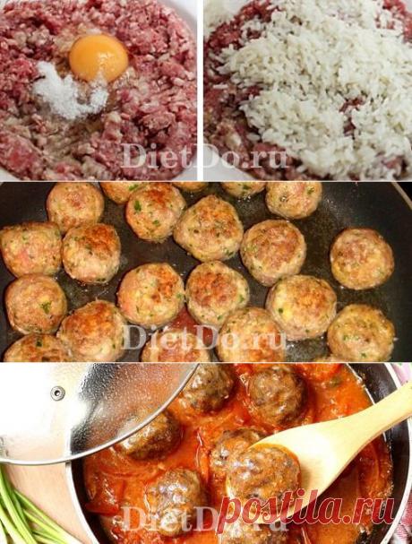 Тефтели с рисом в томатном соусе: ТОП-5 пошаговых рецептов с фото