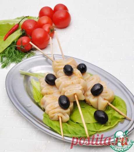 Шашлычки из кальмара в китайском стиле!..