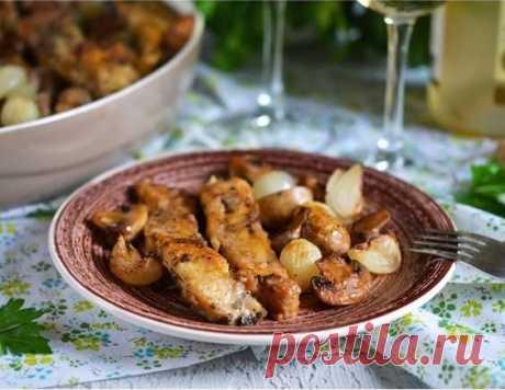 Скумбрия с грибами - рецепт приготовления с фото от Maggi.ru