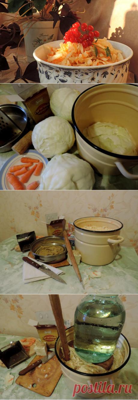 Как я готовлю хрустящую квашеную капусту