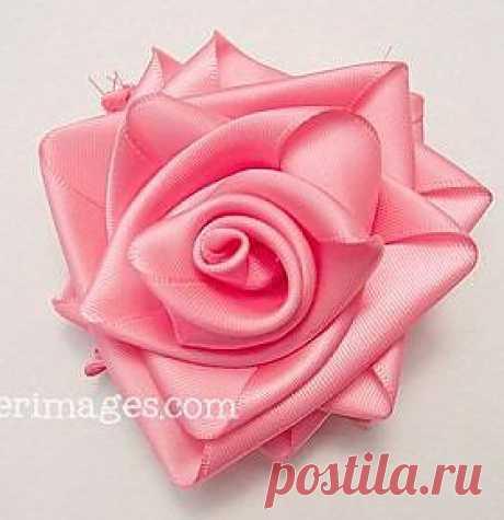 Обалдеть, какие розы из атласных лент!.
