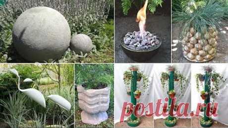 10 идей поделок для сада. Поделки для сада и дачи