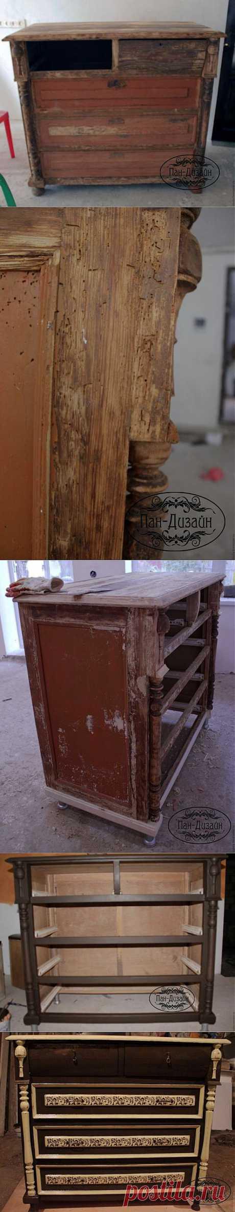 Классика и немного Шебби Шика, реставрация старого комода - Ярмарка Мастеров - ручная работа, handmade