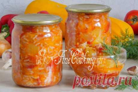 Кабачки с рисом на зиму Сочная, нежная, ароматная заготовка по этому рецепту - салат, закуска и второе в одной банке.