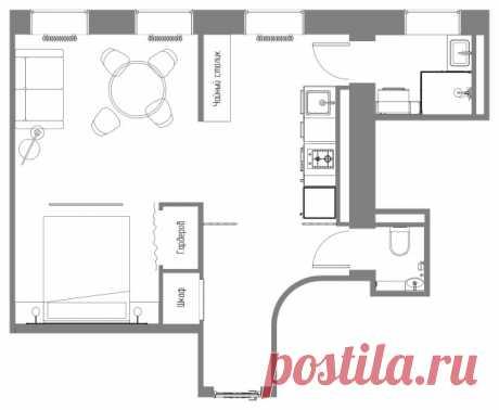 До и после: Дистанционный ремонт квартиры для молодой девушки | Houzz Россия