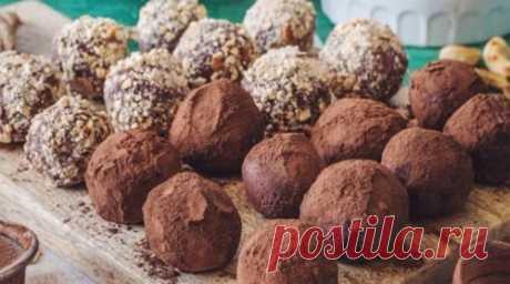 Шоколадно-кофейные трюфели. Вкусные домашние конфеты