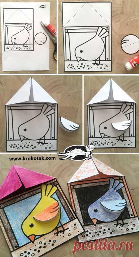 Весенние поделки: птицы из бумаги   Материнство - беременность, роды, питание, воспитание