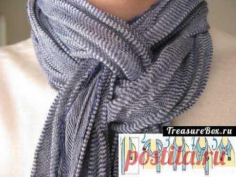 Как красиво завязать женский шарф