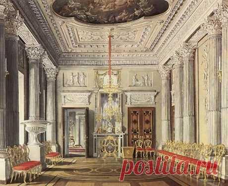 The Marble Diningroom, Gatchina Palace, Edward Petrovich Hau, 1880 | Pinterest • el catálogo Mundial de las ideas