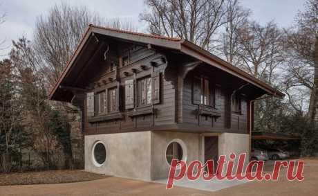 Бывший гараж, из которого построили жилой дом по проекту Experimental architecture studio для мр. Баррета в Женеве, Швейцария