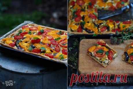 Летний пирог с баклажанами и томатами — Фактор Вкуса