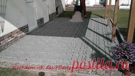 Мощение террасы самодельной бетонной плиткой своими руками | Своими руками