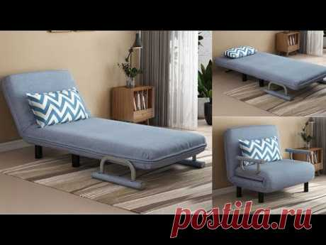Folding Sofa Bed Armchair Sleeper Fabric Lazy Sofas Single Living Room Lounge Chair Bed Furniture