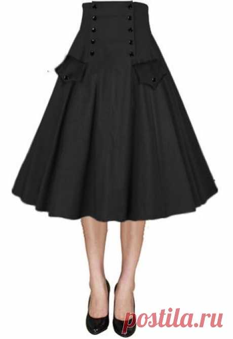 Button Front Full Skirt by Amber Middaugh | Fashion