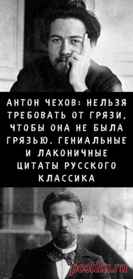 Антон Чехов: Нельзя требовать от грязи, чтобы она не была грязью. Гениальные и лаконичные цитаты русского классика - Кулинария, красота, лайфхаки