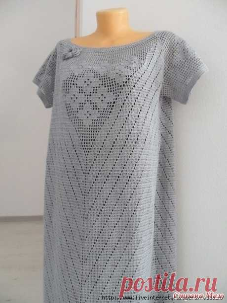 Жемчужное филейное платье
