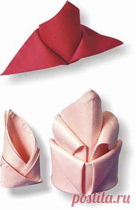 Как красиво сложить салфетки. Часть 1. / Мастер классы по декору / PassionForum - мастер-классы по рукоделию